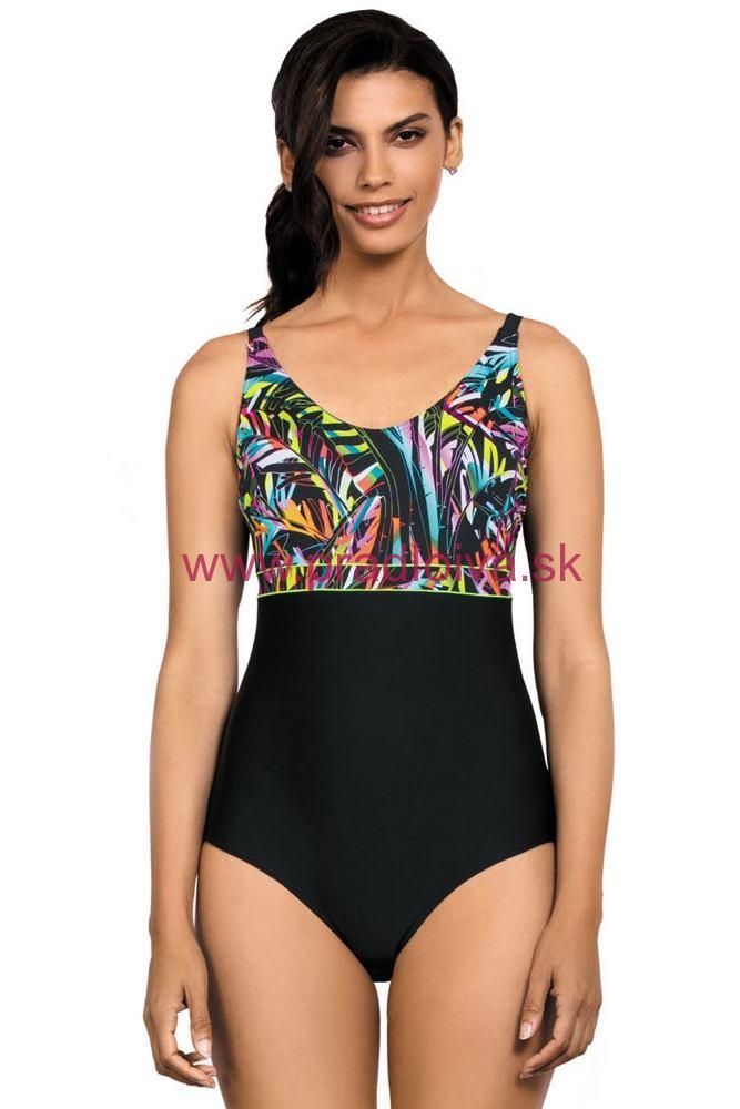 9d597c0e3a17 Jednodielne plavky Amara čierne so vzorom XL 80D