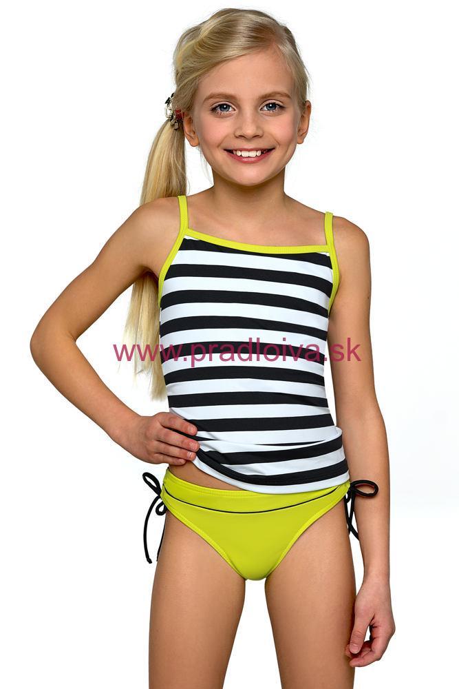dfef28d4ed86 Dievčenské detské dvojdielne plavky tankiny Anička zelené