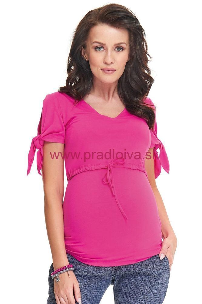 2f625c822c5d Materská tehotenská blúzka tričko Sumu ružová
