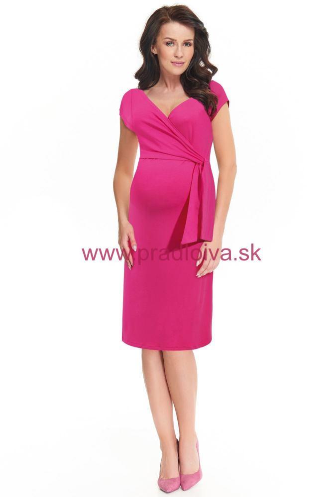 Dojčiace materské a tehotenské šaty Janisa ružové 3f00fdff6a4