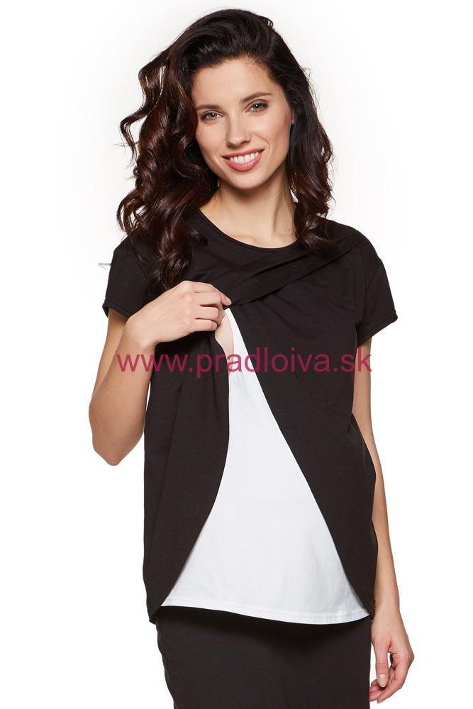 df157e05718c Dámske tehotenské a dojčiace tričko na kojenie Lavis čierne