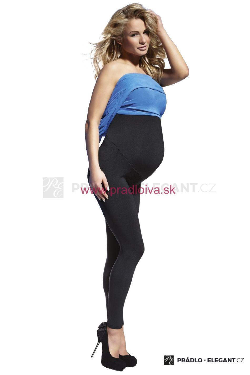699b57404887 Dámske vysoké tehotenské legíny Anabel 200 DEN čierne