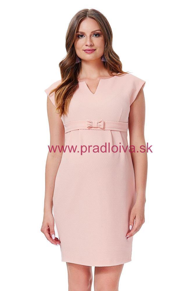 b455287757 Dámske elegantné tehotenské šaty Fergie lososové