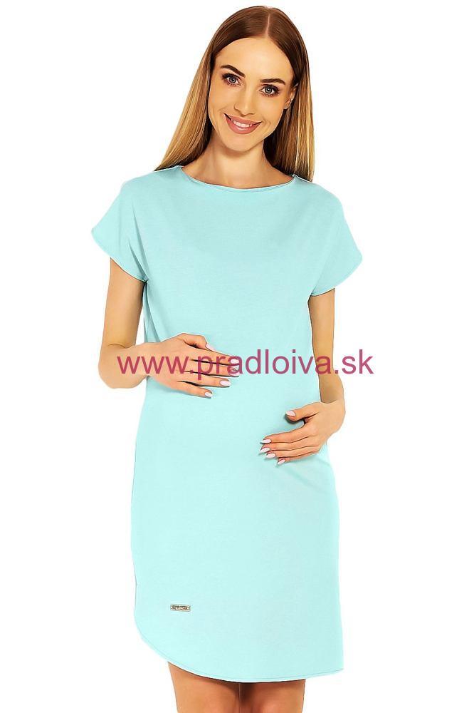 fe5175bdc Dámske bavlnené tehotenské šaty Terry tyrkysové