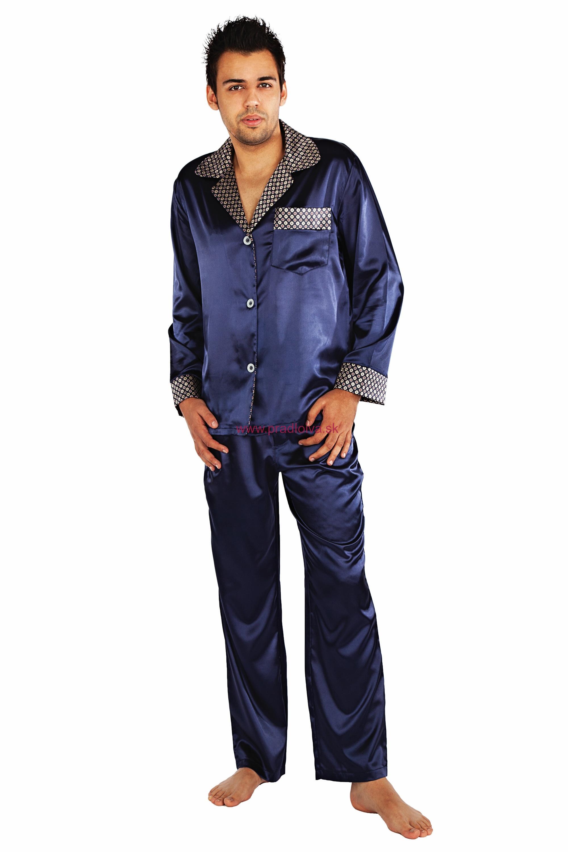 7cc167e83be2 Saténové pánske pyžamo Adam 4XL