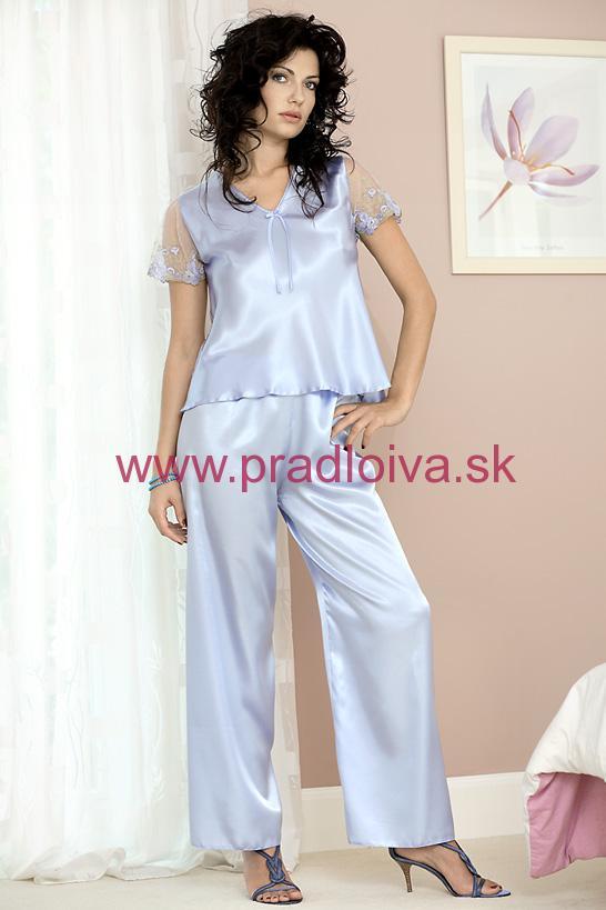 b9e2ef372ef5 Dámske saténové pyžamo Ewa modré