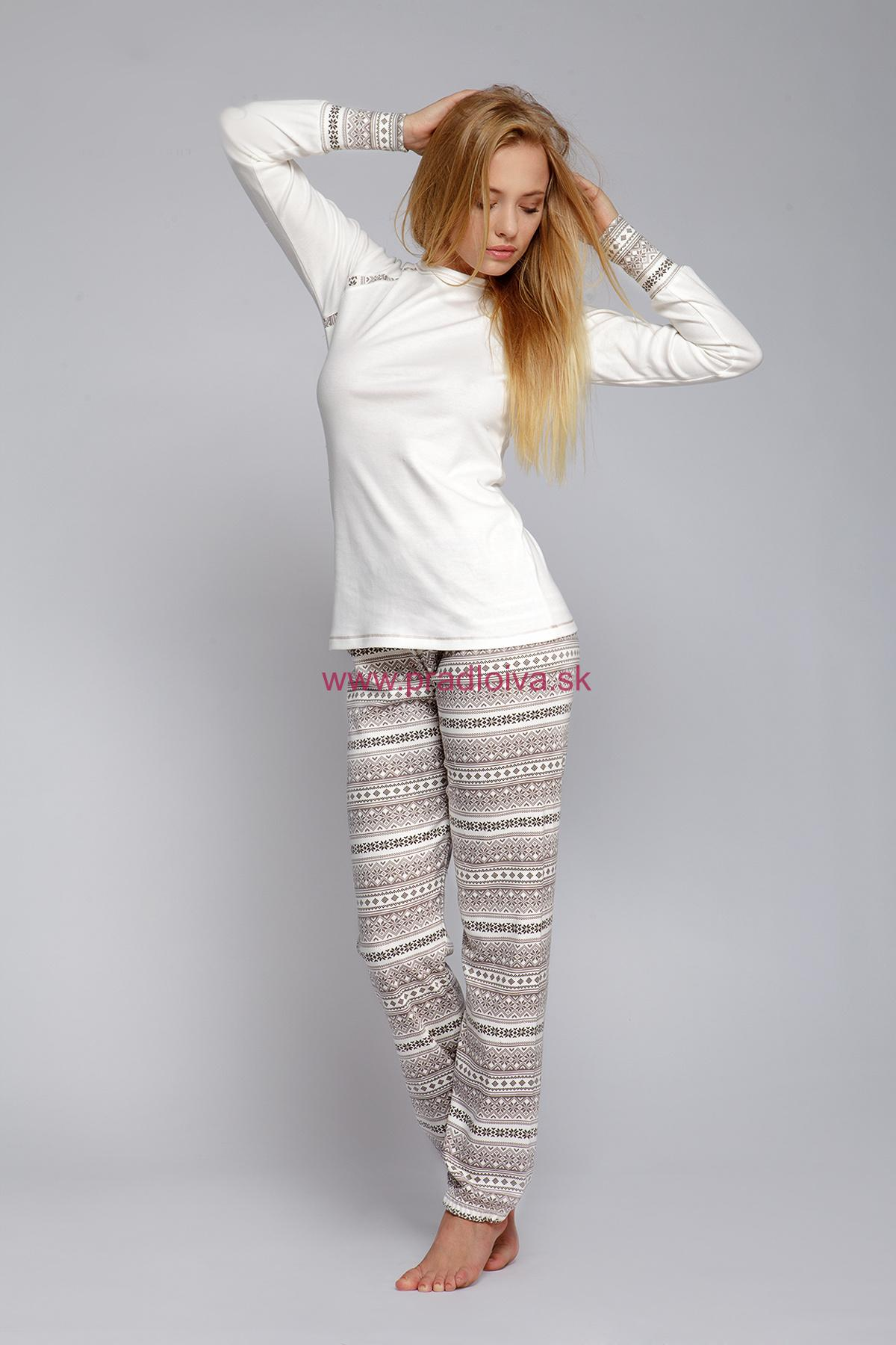 a2a567287 Dámske bavlnené pyžamo Norveg s nórskym vzorom | pradloiva.sk
