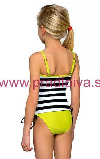 518990d9f793 Dievčenské detské dvojdielne plavky tankiny Anička zelené 140
