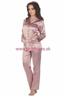 b023441ac0f2 Dámske dlhé saténové pyžamo Classic ružové