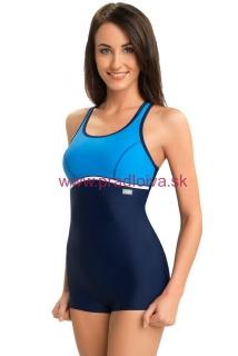 6d4c62892407 Jednodielne dámske plavky nohavičkové Ines modré