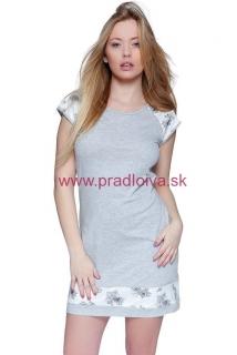 01f6228c1db8 Dámska nočná košeľa Romantic šedá