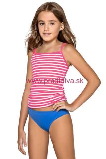 0dec56c01d31 Dievčenské detské dvojdielne plavky tankiny Lili ružovo bielo modré