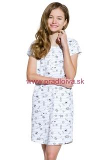 0a46d69091e7 Dievčenská detská bavlnená nočná košeľa Inka šedá