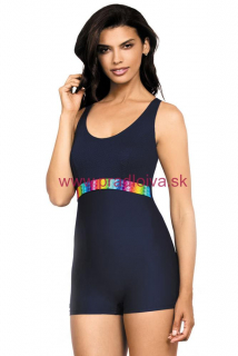2f443efbee07 Dámske jednodielne plavky Beata s krátkou nohavičkou tmavo modré