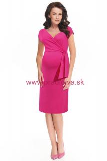 89c967e12634 Dojčiace materské a tehotenské šaty Janisa ružové