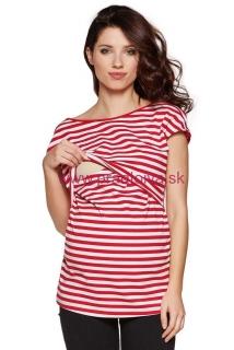 40163bfbddb1b Dámska bavlnená tehotenské a dojčiace tričko Daisy červené