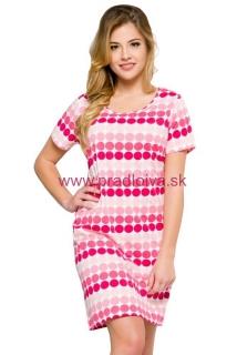 1960bb5648b4 Dámska bavlnená nočná košeľa Courtney s bodkami ružová