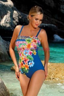 c2f7da3f3 Dámske jednodielne plavky s kvetinami Mexico modré