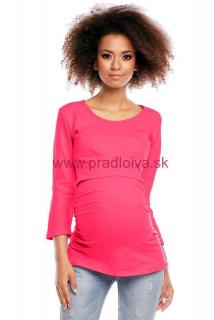 7b69c0ea428fa Dámska bavlnená tehotenská tunika Ablah ružová