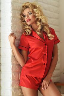 Dámske krátke saténové pyžamo Imperia červené 9c118ecc86